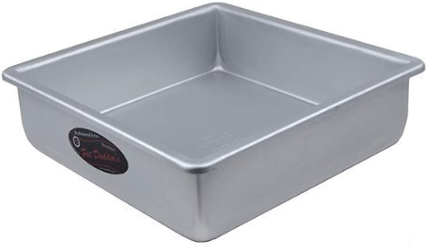 Fat Daddio S Square Cake Pan Solid Bottom 10 X10 X3