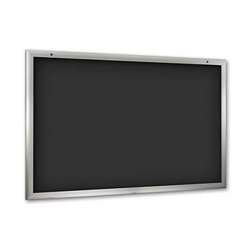 Vitrine d'affichage pour l'intérieur et l'extérieur - ouverture porte 180° vers le bas - format extra-grand l x h 1600 x 1025 mm, paroi arrière anthracite RAL 7016 - panneau d'affichage panneaux d'affichage présentation support publicitaire vitrine murale