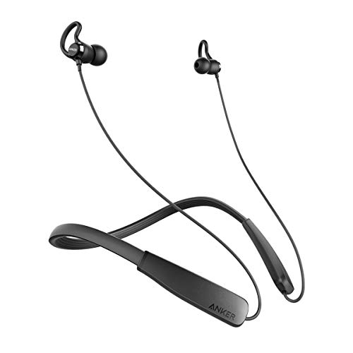 Anker SoundBuds Rise Bluetooth Headphones, Wireless Lightweight Neckband Headset, IPX5 Water Resistant Sport Earbuds with Noise Cancelling and Built-in Mic (Renewed)