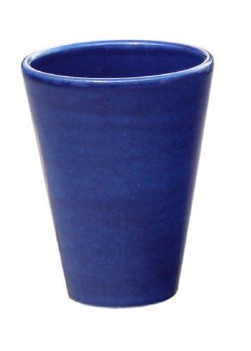Hentschke Keramik Pflanztopf/Pflanzkübel frostsicher Ø 25 x 30 cm, Effekt blau, 008.030.64 Blumenkübel für Draußen + Innen - Made in Germany