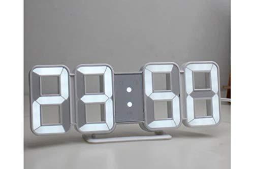 SAYKHUS Acrylic Digital LED Number Table/Wall Hanging Alarm Clock (Multicolour)