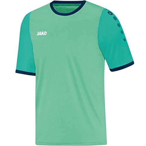 JAKO Leeds KA–Camiseta de fútbol Camiseta, Hombre, Trikot Leeds KA, Mint/Smaragd/Navy, Large