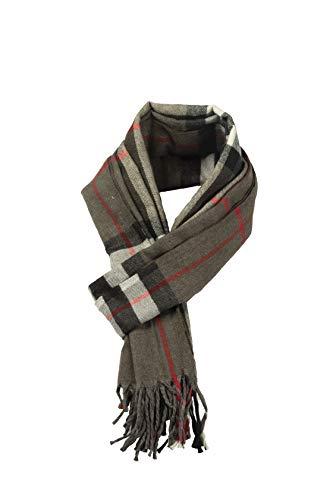 Bufanda de invierno suave y clásica con sensación de cachemira, para hombres y mujeres