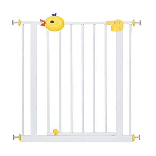 PNFP veiligheidsstore voor binnenshuis, extra brede babytor, drukgemonteerd, voor trappen en hal deur, wit metaal, Easy Open, 65-194 cm