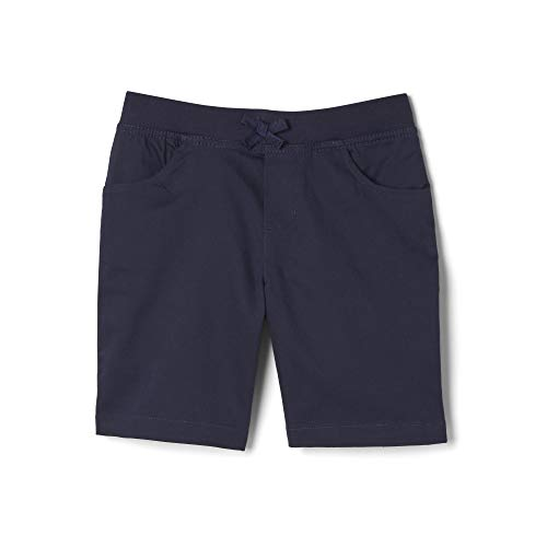 French Toast Girls' Big Stretch Pull-On Tie Front Short, Navy, 16