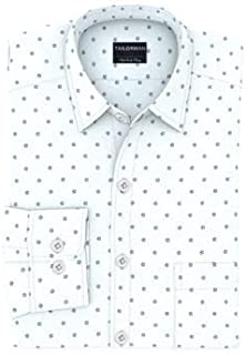 Tailorman White Floral Print Shirt