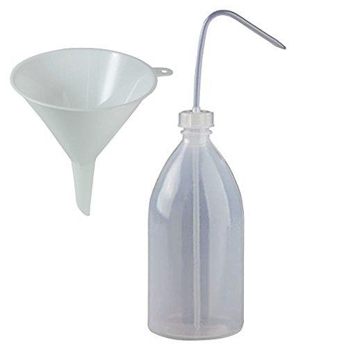 Botella pulverizadora Mikken de 1000 ml, botella de laboratorio, de plástico, sin BPA, fabricada en Alemania, incluye embudo
