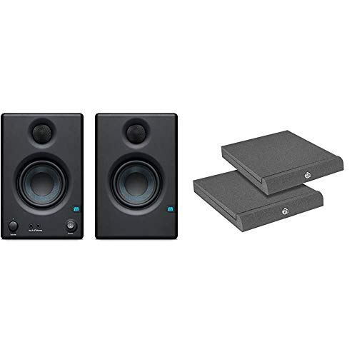 PreSonus ERISE3.5 Studio-Monitore & Adam Hall Stands PAD ECO 2 - Absorberplatte für Studio Monitor 265 x 330 mm