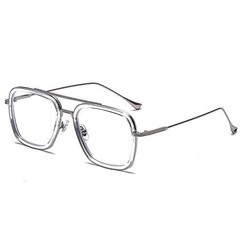 Las nuevas gafas enmarcan las mismas gafas planas de metal anti-azul claro para hombres pueden equiparse con miopa