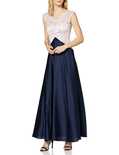 Swing Marina vestido Azul (Darblue/rose 3069) 38 (Talla del fabricante: 36)
