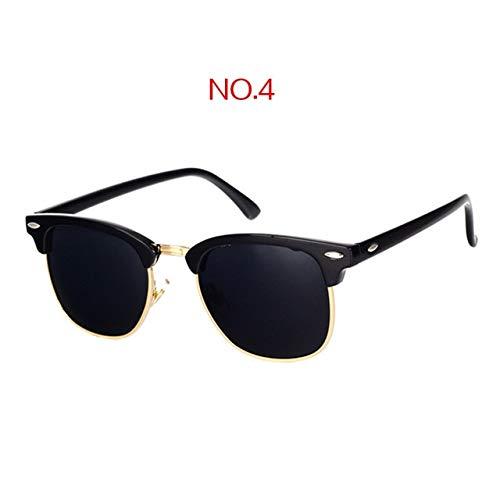 WULIHONG-Gafas de Sol Gafas de Sol polarizadas clásicas Hombres Mujeres Retro Diseñador de la Marca Gafas de Sol Mujer Hombre Moda Espejo Sunglass China NO4