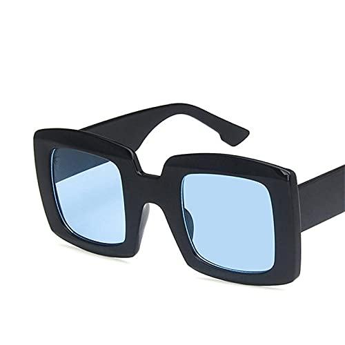 ShSnnwrl Gafas De Moda Gafas De Sol Gafas De Sol Cuadradas Vintage para Mujer Gafas De Sol De Gran Tamaño Gafas De Conducción Retro Uv400 Negro