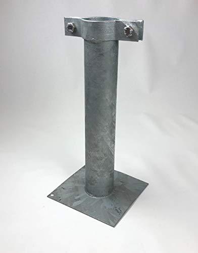 Joma-Tech Schilderhalter Fahnenmast Halterung Fahne Schilder 440mm Rohr Ø 70mm mit Schelle (1 Stück Halter)
