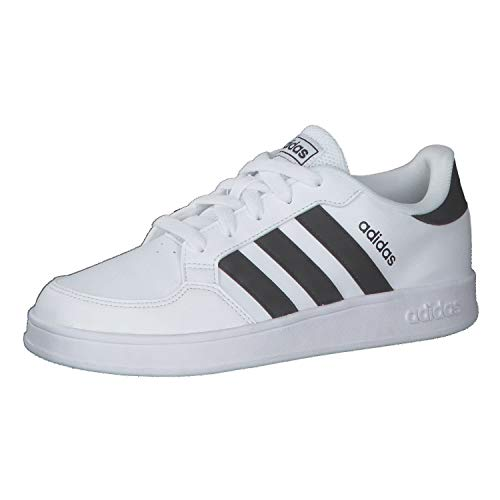 adidas BREAKNET K, Zapatillas de Tenis Unisex Adulto, FTWBLA/NEGBÁS/FTWBLA, 39 1/3 EU
