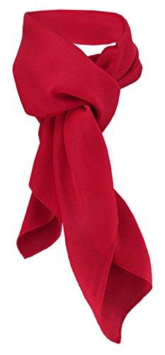 TigerTie signore chiffon foulard - rosso-traffico Uni dimensione 90 cm x 90 cm - sciarpa