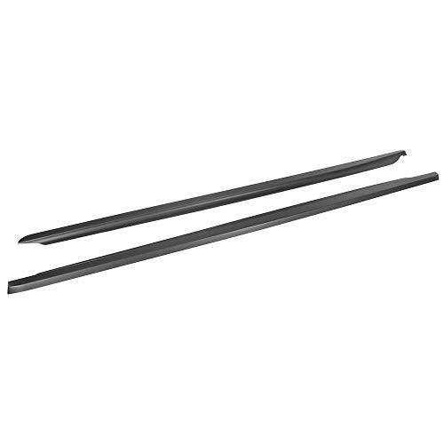 IKON MOTORSPORTS, Side Skirts Compatible With 2013-2020 Scion FR-S Toyota 86 Subaru BRZ, CS Style Unpainted Black PP Rocker Moulding Panel Bottom Line Lip Underboddy, 2014 2019