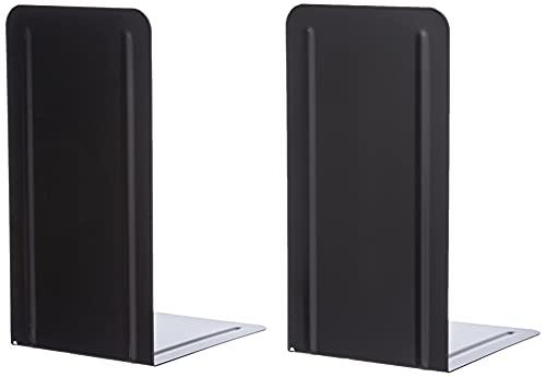 Alco-Albert 4303-11 - Sujetalibros (2 unidades, metal, 130 x 240 x 140 mm), color negro