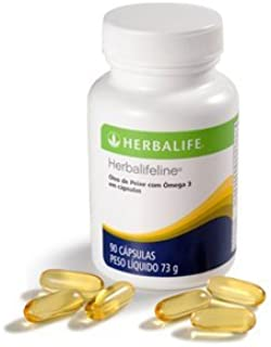 Herbalifeline with Omega-3 Fatty Acids EPA DHA 60 Softgles Shipped from USA