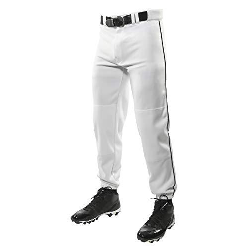 Champro Klassische Baseballhose mit dreifacher Krone mit kontrastfarbenen Zopfpaspeln und verstärkten Gleitflächen