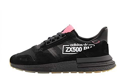 adidas Men's Zx 500 Rm Fitness Shoes, Black (Negbás/Negbás/Rojdes 000), 9.5 UK