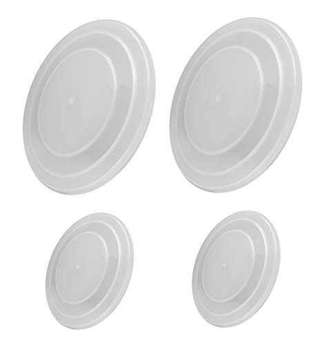 Excelity 4 Packs Bowl Covers Plate Lid for Microwave food Storage, Reusable and Stackable