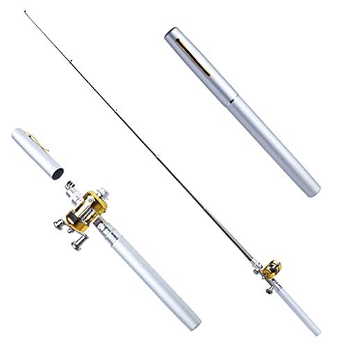 YWSZJ Mini bolígrafo de bolsillo portátil de aleación de aluminio negro para...