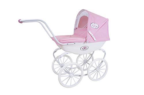 KNORRTOYS.COM 63602 Puppenwagen Classic pram-Rose/White/Princess