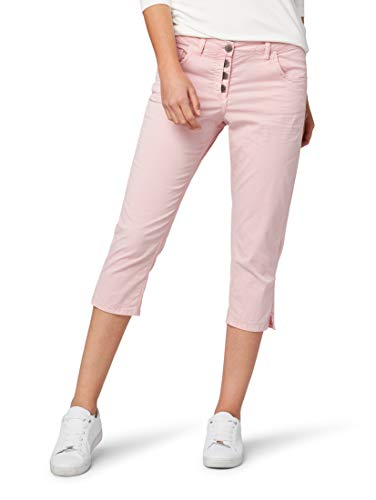 TOM TAILOR Damen Hosen & Chino Relaxed Tapered Jeans Soft Pink,44