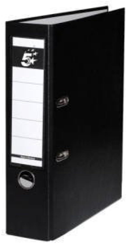 10 Ordner Schwarz Kunststoff 8cm Aktenordner 80mm DIN DIN DIN A4 Büro von  5 Star . (Vorteilspack 10 Ordner) B01N7YWUQP | Erste in seiner Klasse  be828b