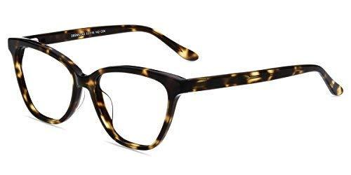 Firmoo Occhiali da Lettura Uomo Donna +2.00, Occhiali Presbiopia Anti Luce Blu e 100% UV Protezione, Cat Eye Occhiali da Vista Antiriflesso, Tartaruga