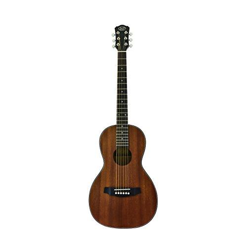 CNZ Audio Acoustic Parlor Body Guitar, Mahogany Top, Back & Sides, Natural Matte Finish