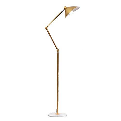 FAFZ Amerikaanse LED-vloerlamp, smeedijzer, industriële stijl, retro, woonkamer, slaapkamer, goud