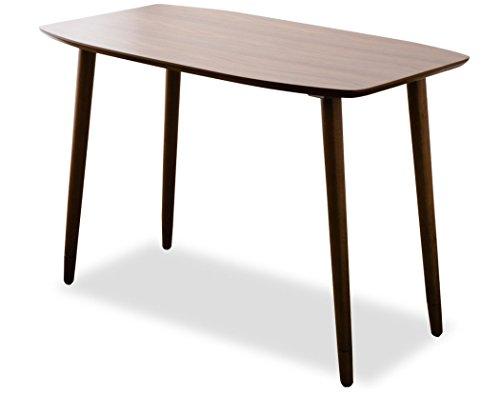 エムール 高さ調整機能がついた テーブル 『ウォルカ』 約幅90×奥行50cm パーソナル/サイドテーブル 木製 ウォールナット