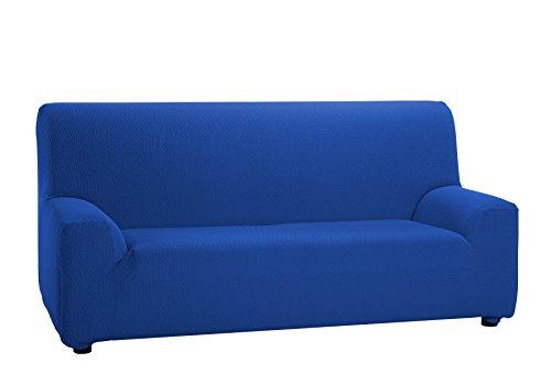 Martina Home Tunez Copridivano elastico, Tela (50% poliestere, 45% cotone, 5% elastan), Blu Elettrico, 3 posti da 180 a 240 cm di larghezza
