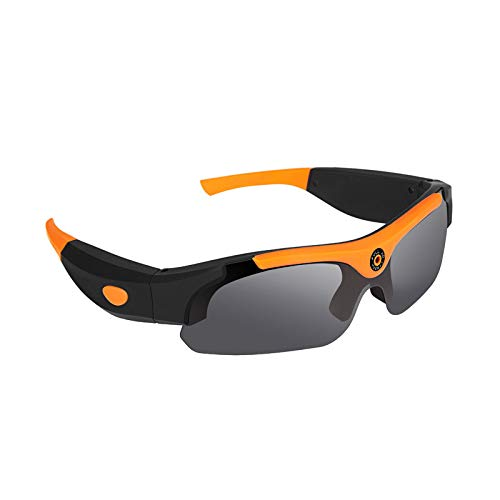 STM32 by ST HD Smart Glasses Sports Outdoor Video Glasses Riding Record Taking Pictures Sunglasses Video Glasses-Flat Angle + Orange