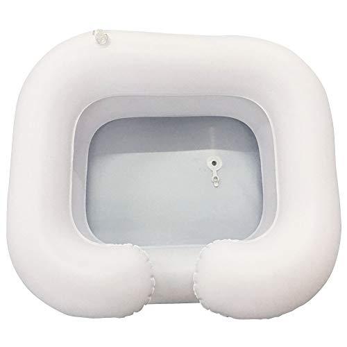Centeraly Lavabo inflable para el cabello, portátil inflable con tubo de drenaje, lavar el cabello en la cama, sistema de ducha de noche para personas mayores, lesionados, discapacitados