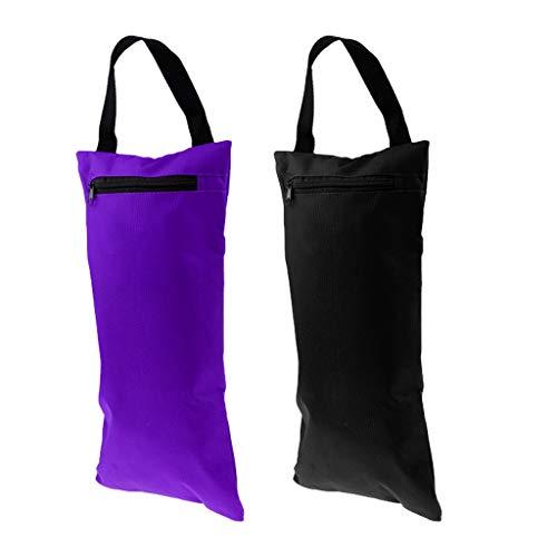 Desconocido Generic Set 2 Sacos de Arena para Gimnasia Y Yoga, Entrenamiento en El Hogar, Sacos de Arena para Ejercicios Al Aire Libre en Interiores, Sin Llenar, Negro Y