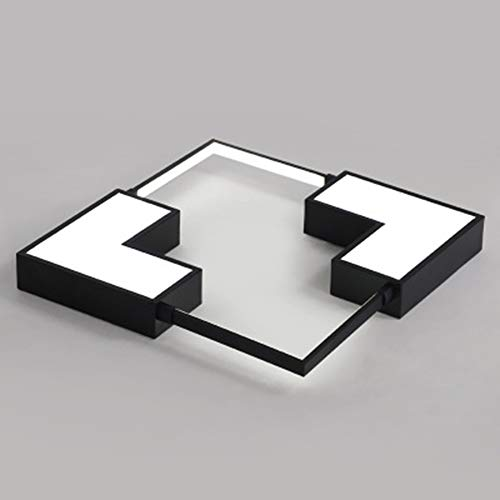 LED Moderno Luz De Techo 38W Lampara De Techo Regulable Ultradelgado Square...