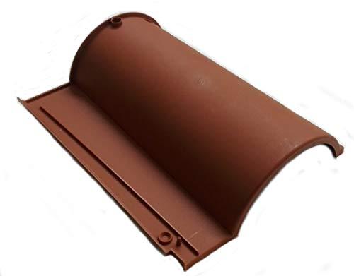 Tegola Portoghese in plastica color cotto - tegole pvc tetto coppo terracotta (1 pezzo, Escluse viti Fissaggio)