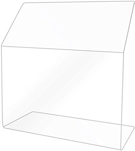 Clear Acrylic Sneeze Safety Guard and Splash Shield, Store Countertop, Restaurant, Reception desk (16 Inch)