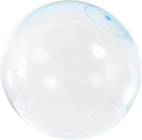Inflatable Bubble Water Balloon Ball: TPR Funny Bounce Wubble Balls Toy for Kids Party Indoor & Outdoor, 23.6 inch Blue