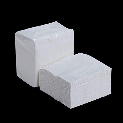 6 Packungen Bambuspulpe Natural Square Servietten 90 Blatt 2 Lagen Geschirr Für Den Außenbereich Picknickzubehör Toilettenpapier