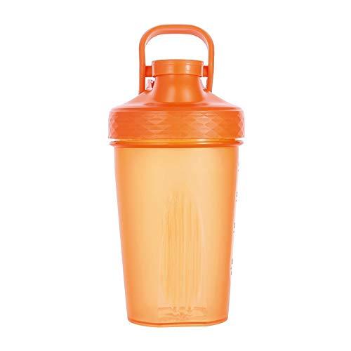 LSGMC Shaker Copa, Botellas De Plástico De Deportes Acuáticos, a Prueba De Fugas Portátil Multifuncional Blender Shake Copa, 500ml,Naranja