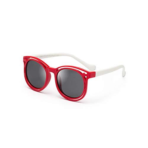 MAKEMONEYANDLOVE Gafas de sol polarizadas para niños, lindo silicón de la manera...
