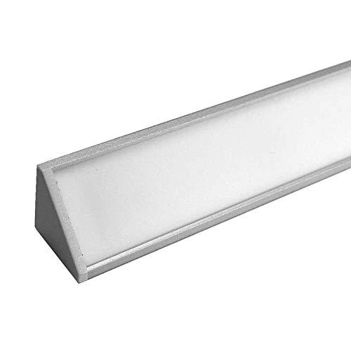 CABI (CA) Eckprofil Aluminium 2m | Innen-Eckleiste für Led Streifen bis 10mm Breite | Eck-Profil + Acryl Abdeckung milchig-weiß (opal) + Endkappen |Aluprofil belastbar (silber eloxiert, 3 x 2m)