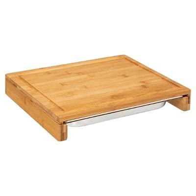 Tabla de cortar prémium con bandeja colectora de acero inoxidable, de bambú, 35 x 28 x 5,5 cm, tabla de trinchar maciza, tabla de cocina, sostenible, antibacteriana, profesional, duradera y resistente
