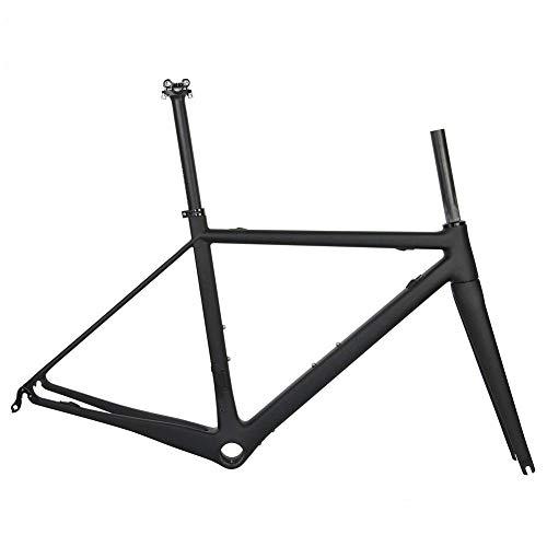 TQ T1000 Full Carbon Rennrad-Rahmen, Rennrad Carbon-Rahmenset Ultralight BB79 Straßenfahrradrahmen,Ud Black Glossy,48cm