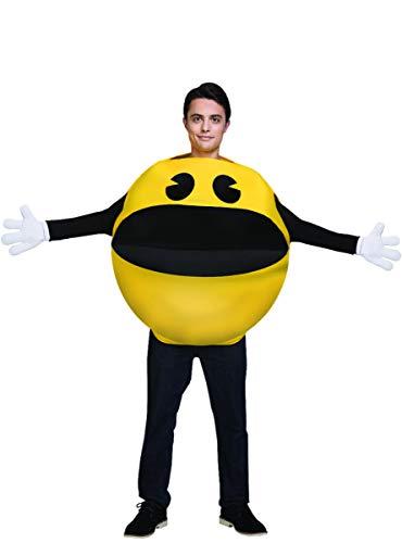 Funidelia | Disfraz de Pac-Man Oficial para Hombre y Mujer Talla Estándar ▶ Comecocos, Videojuegos, Años 80, Arcade - Amarillo