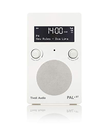Tivoli Audio Pal+ BT tragbares Radio FM/DAB+/Bluetooth, inkl. Akkupack und Fernbedienung, weiß