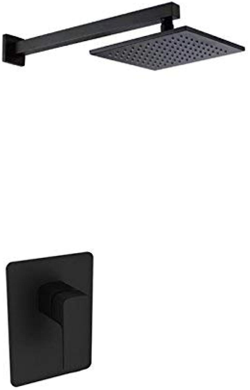 XHHWZB Regenduschkopf-Brausehahnsystem für die Deckenmontage in Schwarz
